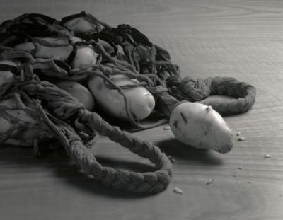 Di ritorno dal mercato - Foto bianco nero da negativo 4x5