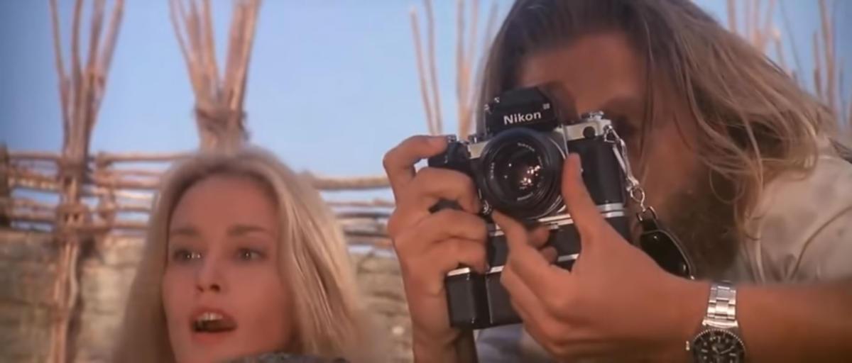 La Nikon F2 con motor drive MD1 nel film King Kong del 1976