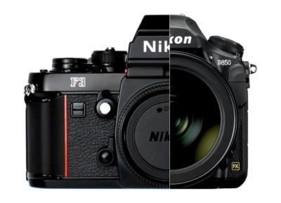 Corpi macchina Nikon F3 e D850