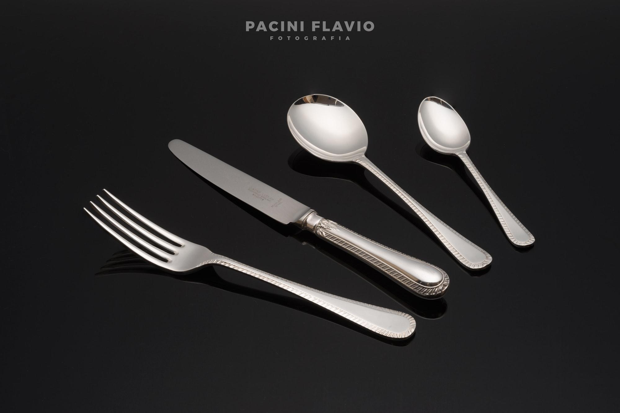 Servizio fotografico posate d'argento
