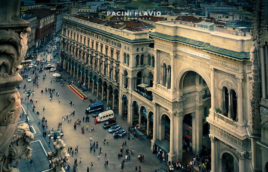 Foto esterni galleria Vittorio Emanuele, Milano