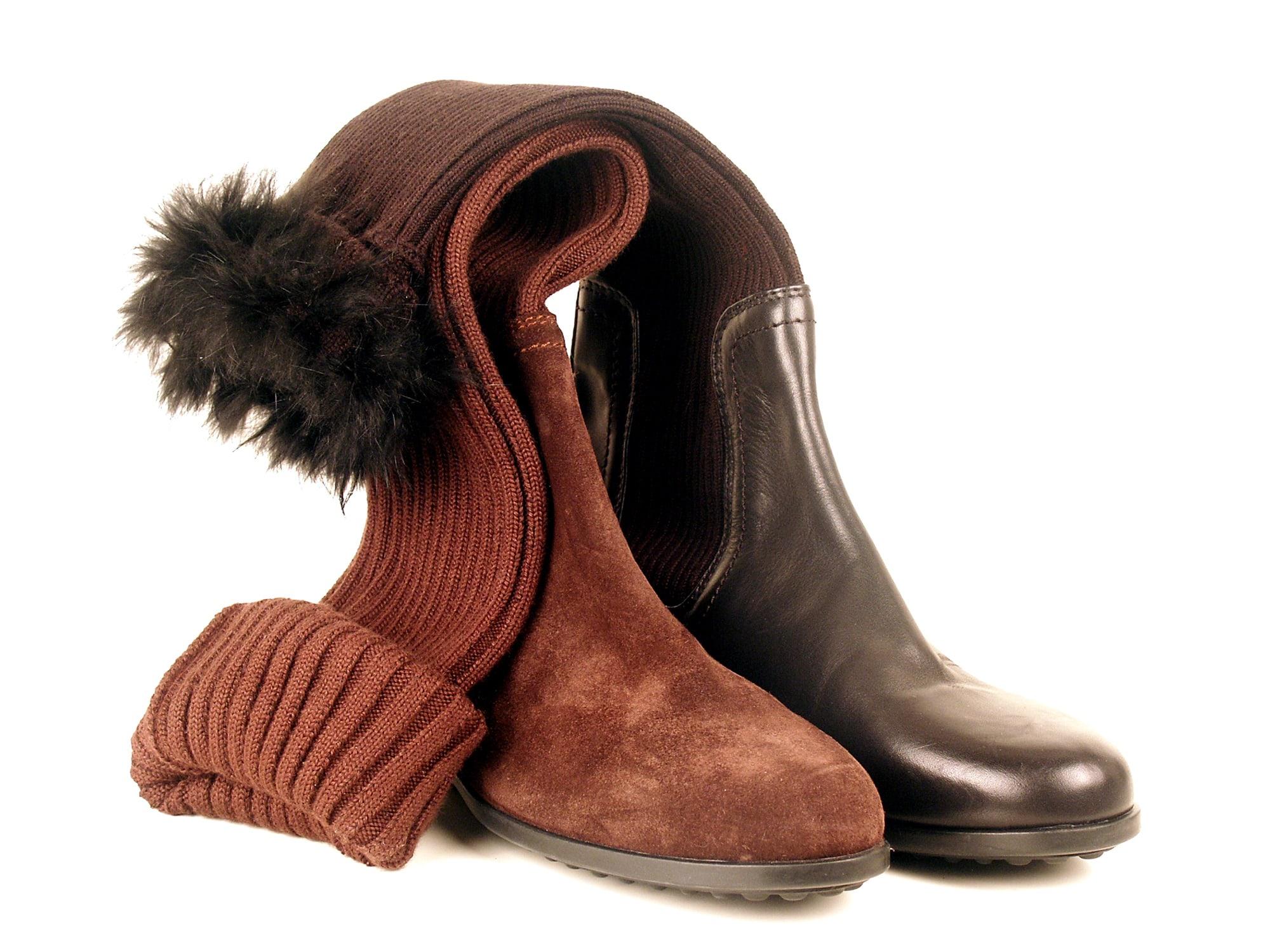 Stivali pelle e lana