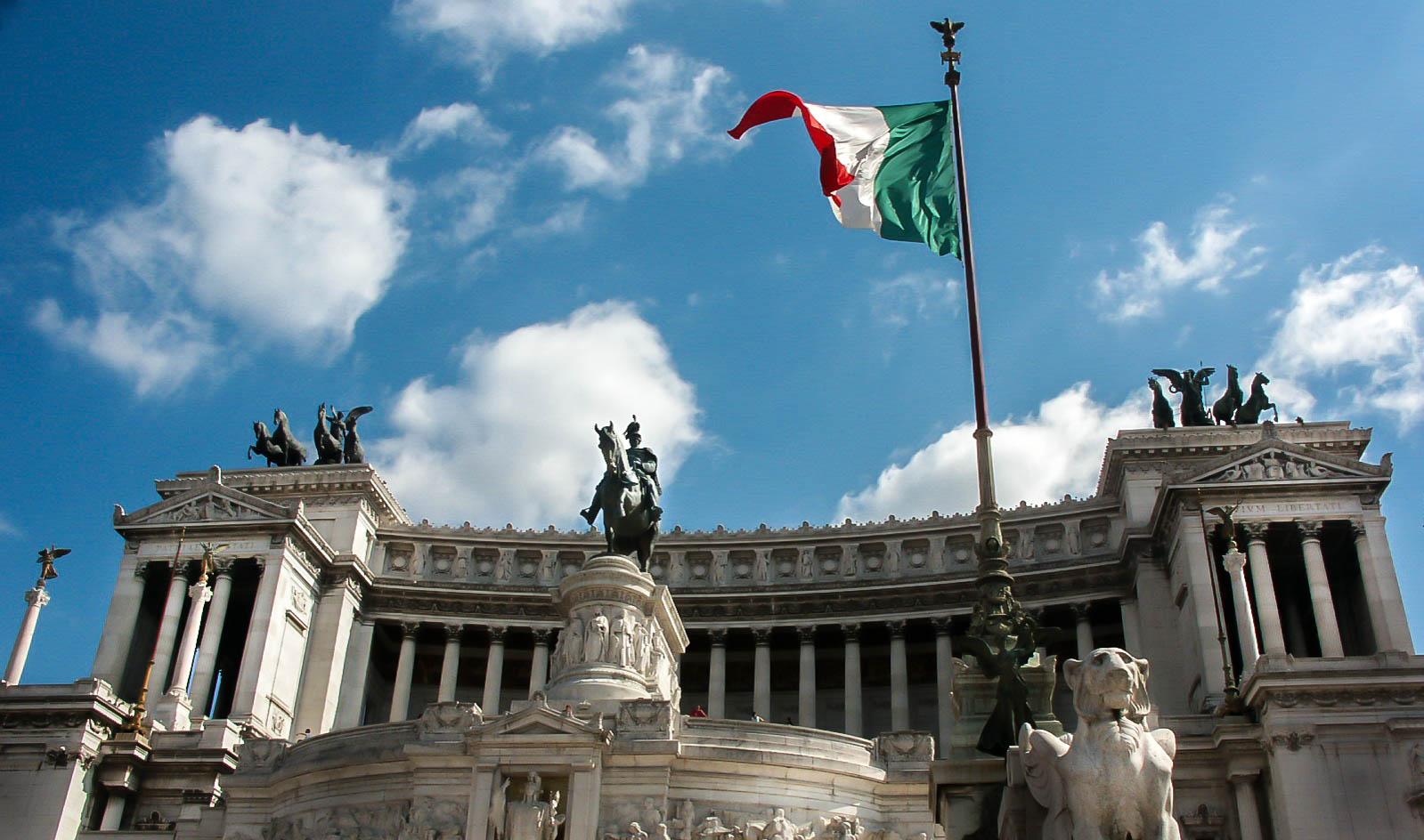 Tricolore al Vittoriano, Roma